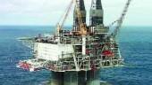 Hibernia oil platform.