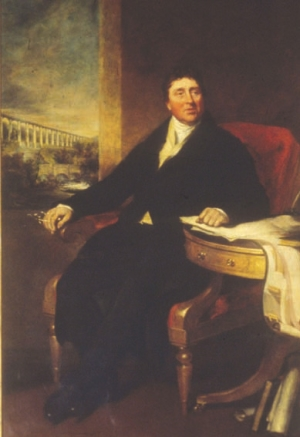 Portrait of Thomas Telford (1757-1834). He was born in Westerkirk, Scotland, the son of a shepherd.