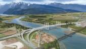 Artist's rendering of new Pitt River Bridge, Vancouver.