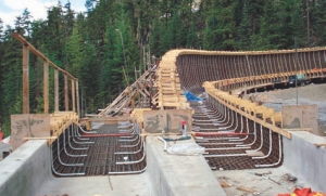 Whistler Olympic Sliding Centre under construction. Stantec with Golder are the engineers.
