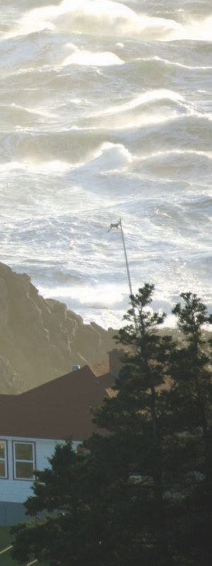 Stormy seas in the Bay of Fundy.