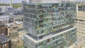 The transparent box; the indented seventh floor houses the mechanical equipment.