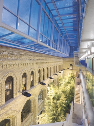 Above: the Winter Garden has daylight and artificial lighting carefully orchestrated.