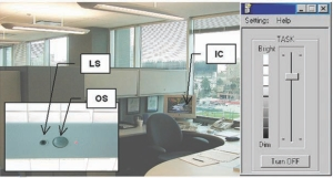 Above: field study workstations had occupancy sensors, daylight sensors, and individual dimming