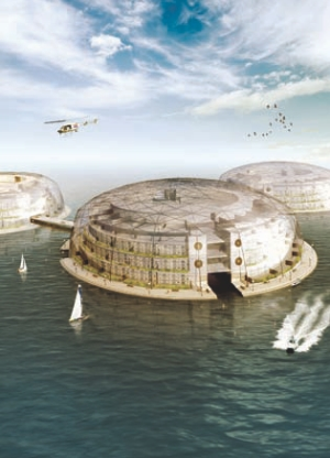 Floating City by Deltasync of the Netherlands. Bart van Buren presented Deltasync's concepts for waterbased developments as a strategy for dealing with climate change and rising sea levels at the FIDIC Young Professionals Forum in Quebec City in September.
