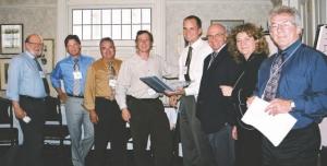 Jury members in Toronto, June 20. Left to right: Ron Britton, John Bramm, Damiano Albanese, Martin Holysh, Mike Greidanus, Yves Fillion, Andre-Lise Mthot, Ronnie Murphy.