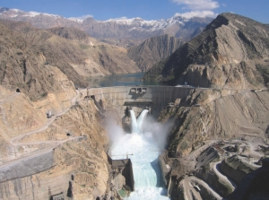 The arch dam is 205 metres high and required over 1.3 million cubic metres of concrete.