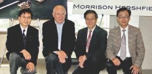 2 Niagara Tunnel Facility Project, Intake Works. Morrison Hershfield, Toronto. Left to right: Chak Lo, Kevin Pask, James Tang, Edward Li.
