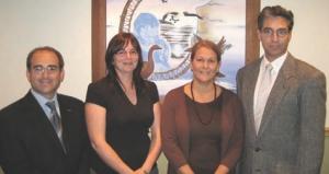 4 Mistissini Community Centre, Quebec. DESSAU, Montreal. Left to right: Alessandro Cirella, Ann Marie Connelly, Edith Sweeney, Jacques Bouchard.