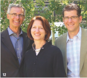 12 National Institute for Nanotechnology, Edmonton. Cohos Evamy. Left to right: Jim Montgomery, Donna Clare, Jeff DiBattista.