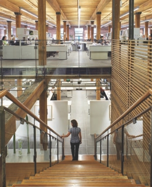 Sentral staircase and open studios