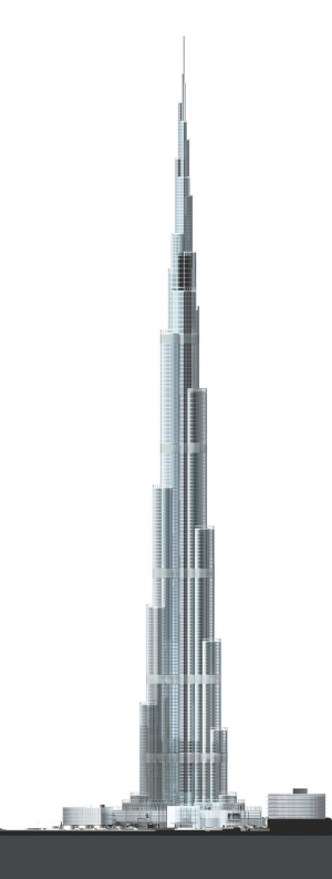 Burj Dubai, designed by and copyright to Skidmore, Owings and Merrill LLP.