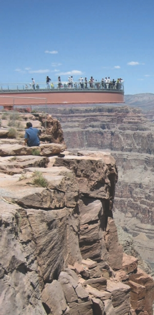 Grand Canyon Skywalk at Grand Canyon West in Arizona.