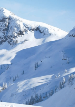 Jones making snowpack observations near Powell River on the west coast of B. C.
