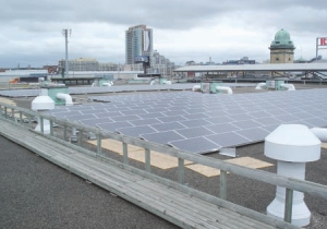 Photovoltaic system on the Horse Palace roof.