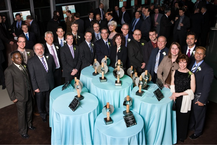 Award-winners at AICQ's gala dinner in Montreal.