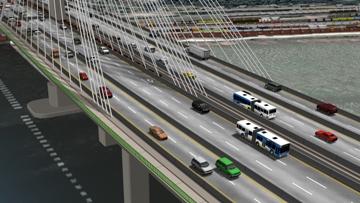 Artist's Rendering of new Port Mann Bridge