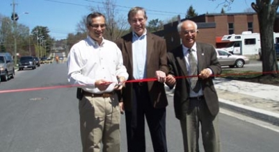 Hon. Tony Clement (left) making funding announcements in May
