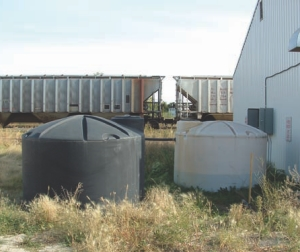 Primary holding tank near infiltration gallery.