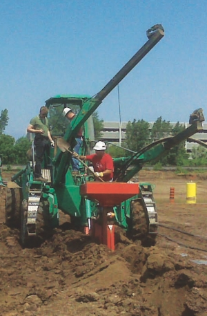 SpiderPlow laying 15 kilometres of geothermal pipe in six days, in contrast to approximately three months using conventional methods.