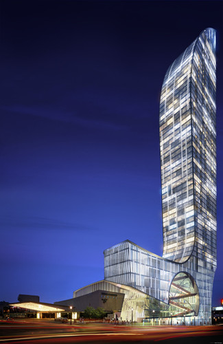 Daniel Libeskind's design for the L Tower on site of Sony Centre for the Performing Arts in downtown Toronto