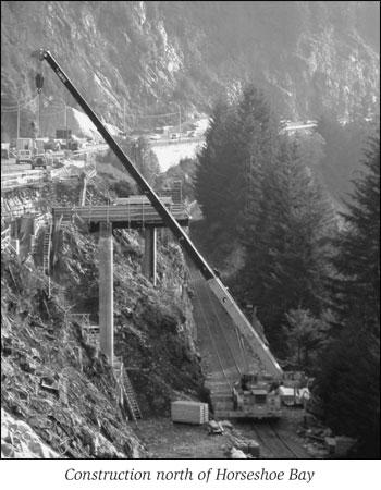 Construction in progress on Sea to Sky Highway, B.C.