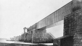 Victoria Bridge under construction. Photograph by Willima Notman, Thomas Seaton Scott/Library and Archives Canada