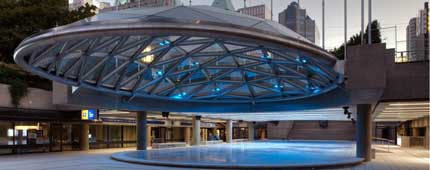 Robson Square Domes, Vancouver, Read Jones Christoffersen, structural engineers