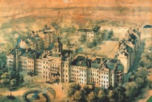 19th century asylum on the site, designed by architect John Howard.