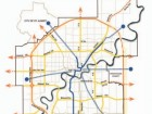 Above: Edmonton's existing and proposed LRT system.