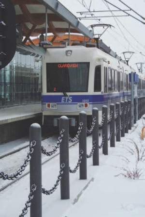 Above: Edmonton LRT.