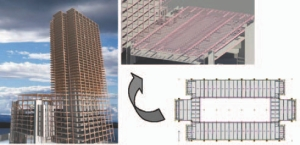 Revit Structure and Fastrak models were used for structural design of Canary Wharf, Riverside South, London, U.K.