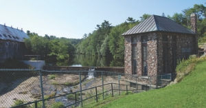 Minas' small hydroelectric power station on the Lower St. Croix River.