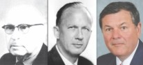 Left to right: Harry Holborn Angus, founded company in 1919; Donald Lloyd Angus in charge 1950-1985; and current president and CEO Harry G. Angus.