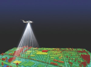 Airborne LiDAR scanning uses long-range laser combined with GPS and other technologies to create three-dimensional models of the earth's surface.