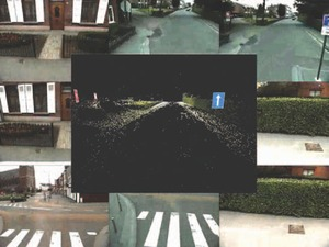 Street scene photographs with features identified in digital (X, Y and Z) point clouds. Features can be vectorized into several forms such as curbs, profiles and cross sections.