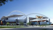 Artist's drawing of new CFL stadium in Winnipeg.