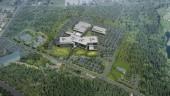 Aerial view, RCMP E Division Headquarters, Surrey, B.C. Image courtesy Kasian Architecture Interior Design and Planning