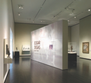 Inside the galleries.