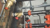 STAP Differential Pressure Controller installed in a project in Calgary. The valves work together to control the differential pressure between the supply and return to each floor.