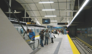 Above: Waterfront Station, Canada Line, Vancouver.