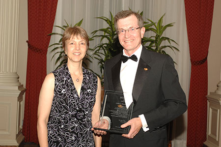 Andrew Steeves, co-winner of the Beaubien Award, and his wife Hope Steeves.