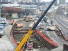 Winnipeg tunnel under construction.