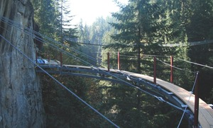 Capilano Cliffhanger under construction in North Vancouver.