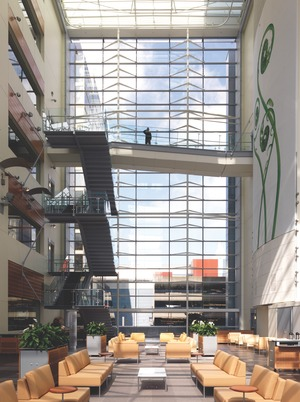 Atrium in the Telus William Farrell complex, downtown Vancouver. Read Jones Christoffersen were the structural engineers. structures