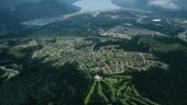 Aerial view of Kitimat on the Douglas Channel, B.C. Pacific coast. Kitimat will be the site of a new terminal for the Enbridge Northern Gateway pipeline. www.tourismkitimat.ca