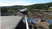 Road washed out in Amherst Cove.  Photographer Chad Fisher, Rutter Engineering.