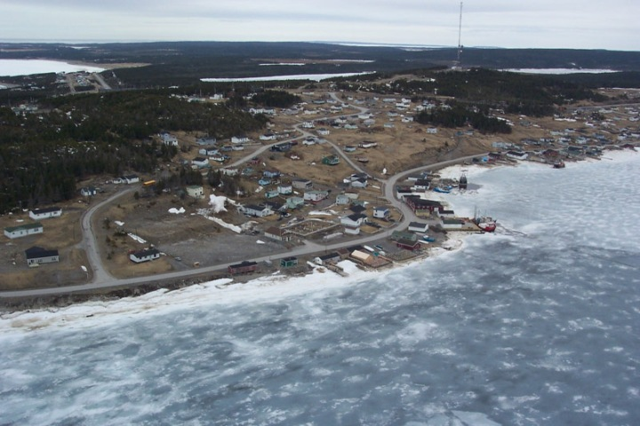 Icebound port in Canada's North.  Photo from C-CORE.