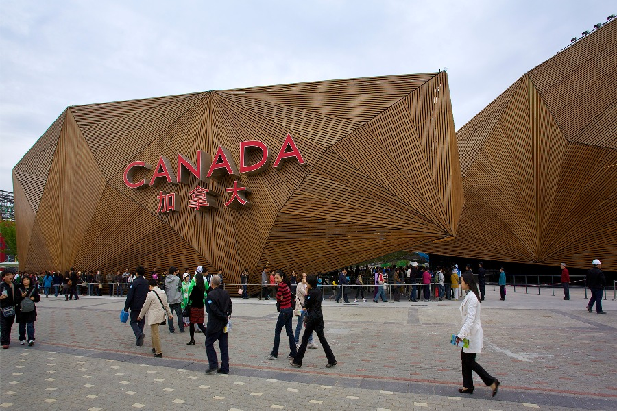The Canada Pavilion at Expo 2010 in Shanghai, designed by SNC-Lavalin, winner of an AICQ Award.