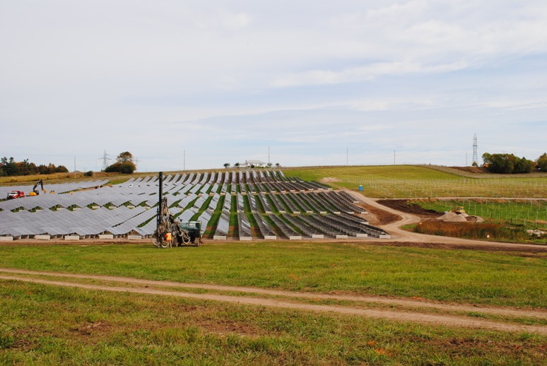 Lily Lake solar farm in Peterborough, Ontario is nearing completion. Peterborough Utilities Inc. appointed Hatch as the Owner's Engineer for the construction of the 10-MW solar farm. Image courtesy of Hatch.